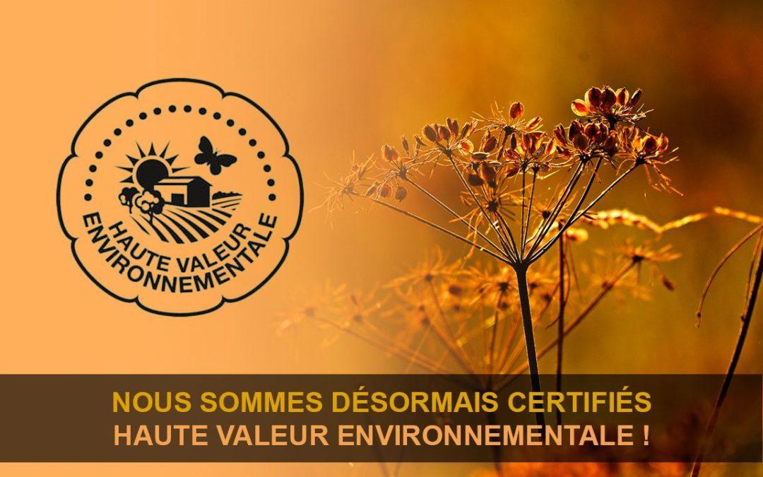 Certifiés à Haute Valeur Environnementale (HVE)