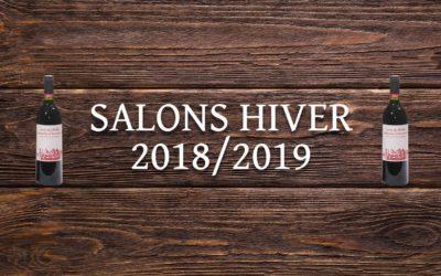 Nos salons pour l'hiver 2018/2019: