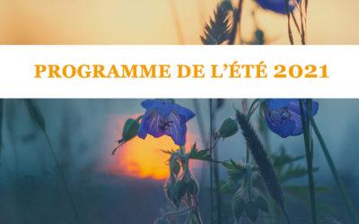 Programme de l'été 2021